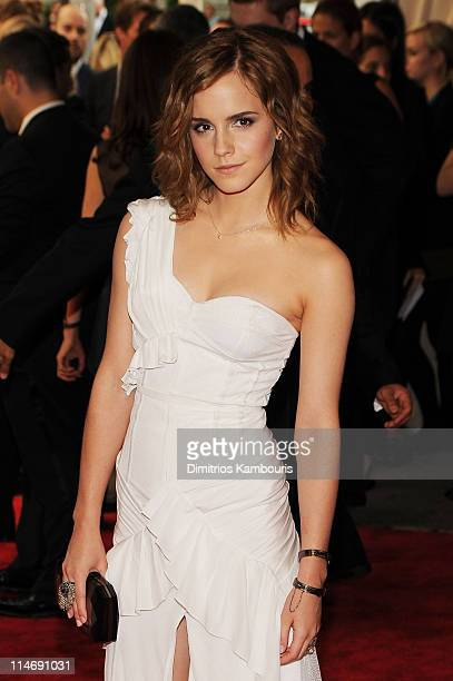 Actress Actress Emma Watson attends the Costume Institute Gala Benefit to celebrate the opening of the American Woman Fashioning a National Identity...