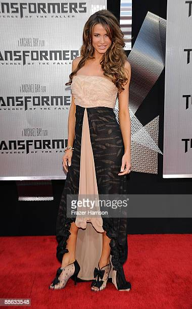 Actress Actress Erin Naas arrives at the premiere Of DreamWorks Transformers Revenge Of The Fallen at Mann Village Theatre on June 22 2009 in...