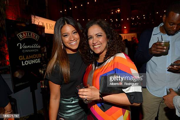 Actress Actress Gina Rodriguez and Damarys Ocana Executive Editor at Latina Magazine attend Latina Magazine's 'Hollywood Hot List' party at The...