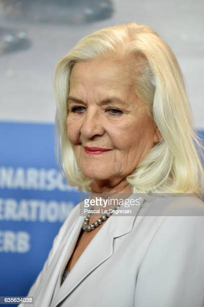 Actress Actress Hildegard Schmahl attends the 'In Times of Fading Light' press conference during the 67th Berlinale International Film Festival...