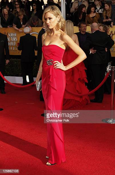 Actress Actress Katrina Bowden arrives at the TNT/TBS broadcast of the 17th Annual Screen Actors Guild Awards held at The Shrine Auditorium on...