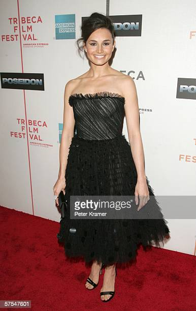 """Actress Actress Mia Maestro attends the """"Poseidon"""" premiere at the Tribeca Performing Arts Center May 6, 2006 in New York City."""