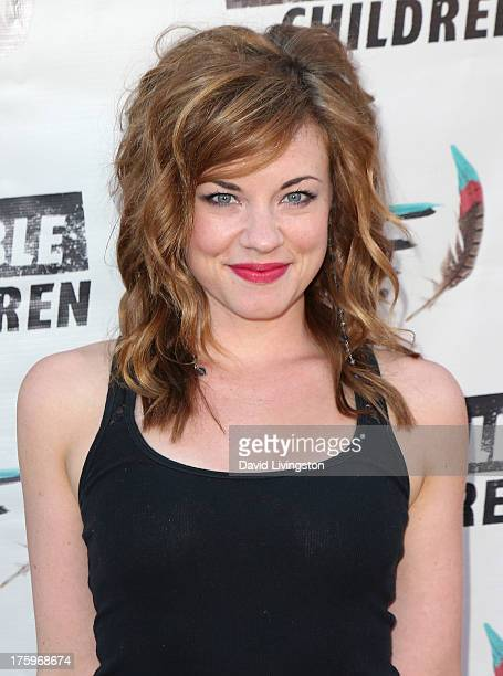 Actress Actress Molly Burnett attends the 1st Annual Founders Party for the Invisible Children's 4th Estate Leadership Summit at Royce Hall UCLA on...