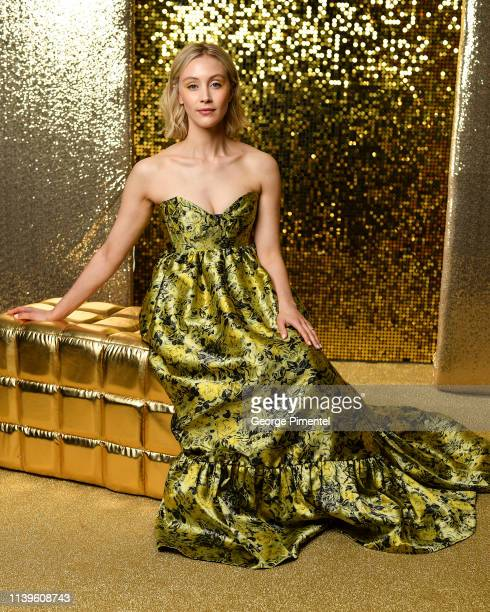 Actress Actress Sarah Gadon poses inside the 2019 Canadian Screen Awards Portrait Studio held at Sony Centre for the Performing Arts on March 31,...