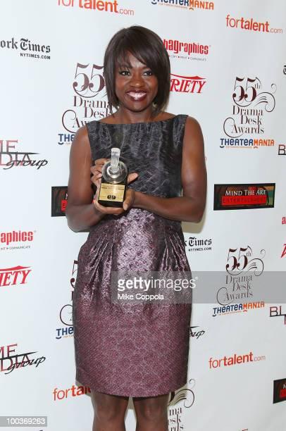 Actress Actress Viola Davis receives an award at the 55th Annual Drama Desk Awards at the FH LaGuardia Concert Hall at Lincoln Center on May 23 2010...