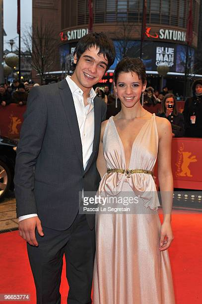 Actress Ada Condeescu and actor George Pistereanu attend the 'Eu Cand Vreau Sa Fluier Fluier' Premiere during day three of the 60th Berlin...