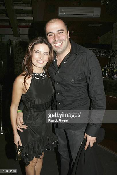 Actress Ada Nicodemou and her fiance Chrys Zipolitas attend TV fashion stylist Kelly Smythe's Birthday Party held at Ruby Rabbit on June 29 2006 in...