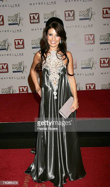 Actress Ada Nicodemou arrives at the 2007 TV Week Logie Awards at the Crown Casino on May 6 2007 in Melbourne Australia The annual television awards...