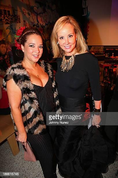 Actress Adamari Lopez and philanthropist Yaz Hernandez attend Friday Night's Party Dia de Los Muertos at El Museo Del Barrio on November 1 2013 in...