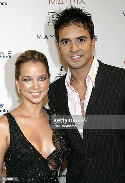 Actress Adamari Lopez and singer/songwriter Luis Fonsi attend the People En Espanol 50 Most Beautiful People Gala at Splashlight Studios May 19 2004...