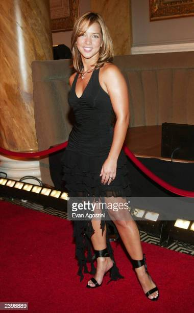 Actress Adamari Lopez arrives at the Thalia Kmart clothing line launch party and fashion show at Capitale on August 13 2003 in New York City