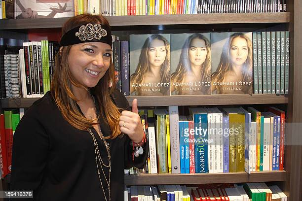 Actress Adamari Lopez greets fans and signs copies of her book 'Viviendo' at Libros AC on January 13 2013 in San Juan Puerto Rico
