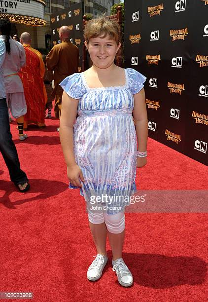 Actress Adanicole Sanger arrives at Cartoon Network's 'Unnatural History' world premiere held at Steven J Ross Theater at Warner Bros Studios lot on...