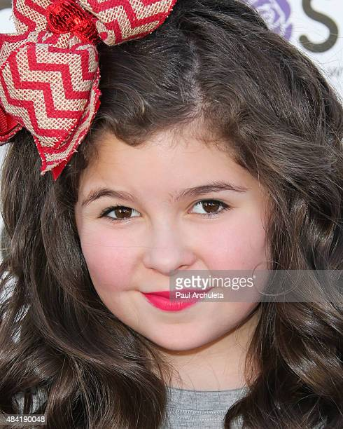Actress Addison Riecke attends the children's fashion show in supporting of Cystic Fibrosis research at CBS Studios Radford on August 15 2015 in...