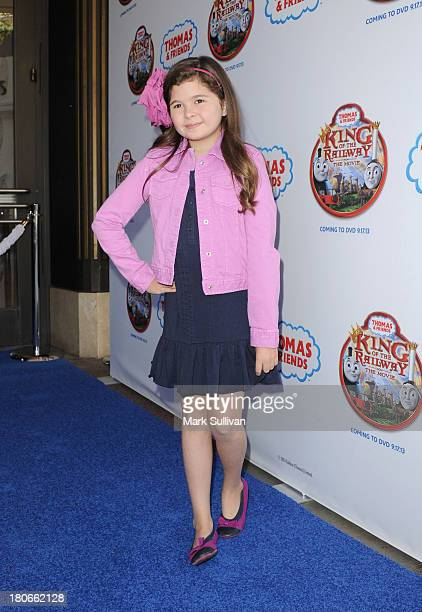 """Actress Addison Riecke attends the """"Thomas & Friends: King of the Railway"""" blue carpet premiere at The Grove on September 15, 2013 in Los Angeles,..."""