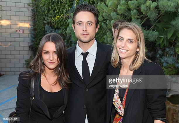 Actress Addison Timlin actor Justin Chatwin and producer Joanna Adler attend the screening of 'Without a Home' at SmogShoppe on May 24 2010 in Culver...