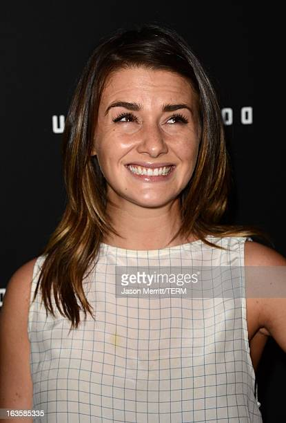 Actress Addison Timlin arrives at a special LA screening of Millennium Entertainment's 'Upside Down' at ArcLight Hollywood on March 12 2013 in...