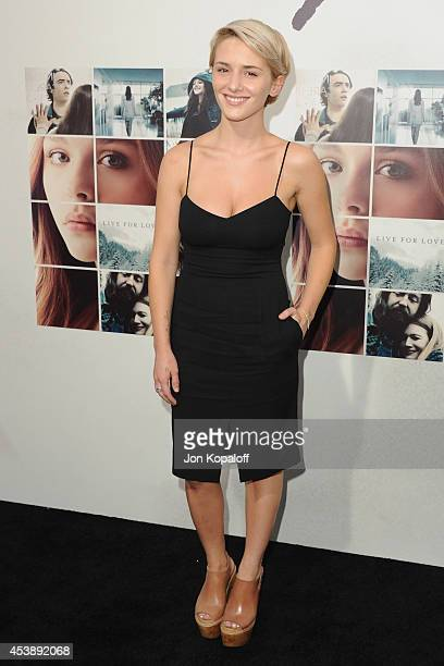 Actress Addison Timlin arrives at the Los Angeles Premiere If I Stay at TCL Chinese Theatre on August 20 2014 in Hollywood California