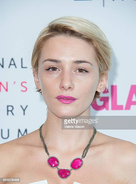 Actress Addison Timlin arrives at the National Women's History Museum And Glamour Magazine's 3rd Annual Women Making History Eventat Skirball...