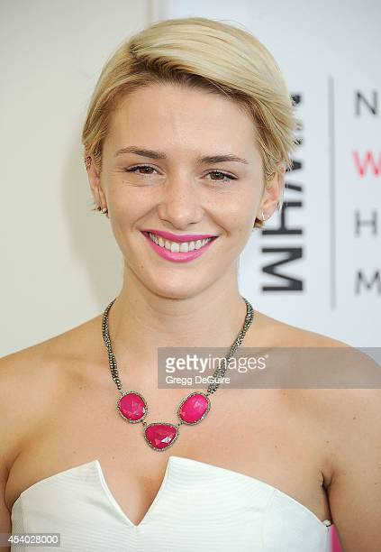 Actress Addison Timlin arrives at the National Women's History Museum's 3rd Annual Women Making History event at Skirball Cultural Center on August...