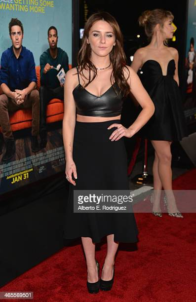 Actress Addison Timlin arrives to the premiere of Focus Features' That Awkward Moment at Regal Cinemas LA Live on January 27 2014 in Los Angeles...