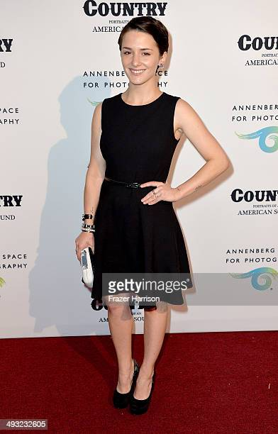 Actress Addison Timlin attends the Annenberg Space for Photography Opening Celebration for Country Portraits of an American Sound at the Annenberg...