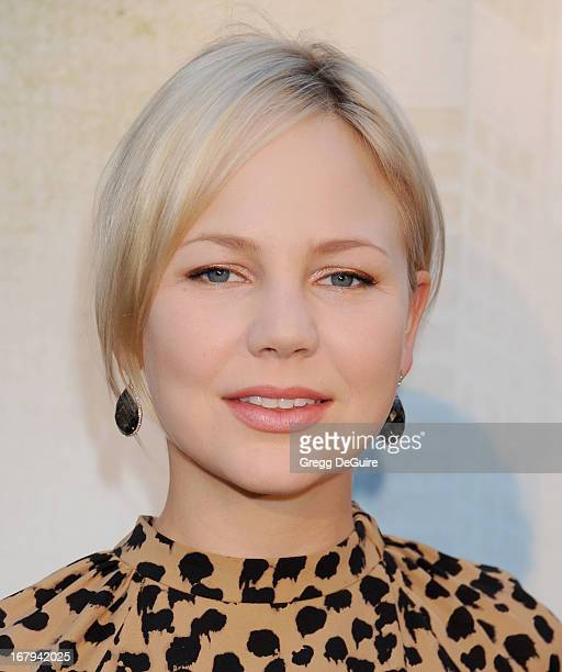 Actress Adelaide Clemens arrives at the Los Angeles premiere of 'Generation UM' at ArcLight Hollywood on May 2 2013 in Hollywood California