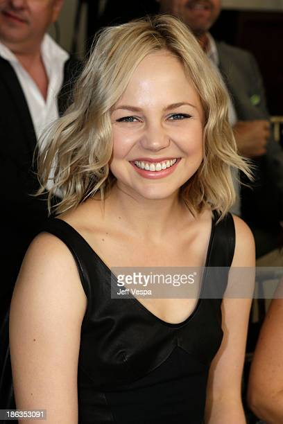 Actress Adelaide Clemens attends the 2013 CFDA/Vogue Fashion Fund Event Presented by thecornercom at the Chateau Marmont on October 23 2013 in Los...