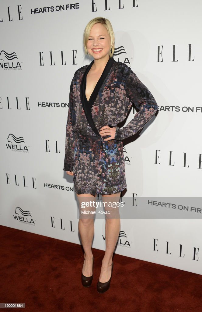 Actress Adelaide Clemens attends the ELLE's Women in Television Celebration at Soho House on January 24, 2013 in West Hollywood, California.