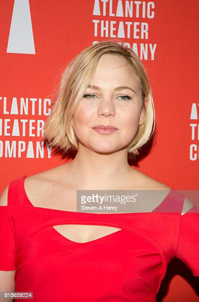 Actress Adelaide Clemens attends the 'Hold On To Me Darling' Opening Night After Party at The Gallery at The Dream Downtown Hotel on March 14 2016 in...