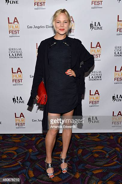 Actress Adelaide Clemens attends the premiere of 'Holbrook/Twain An American Odyssey' during the 2014 Los Angeles Film Festival at Regal Cinemas LA...