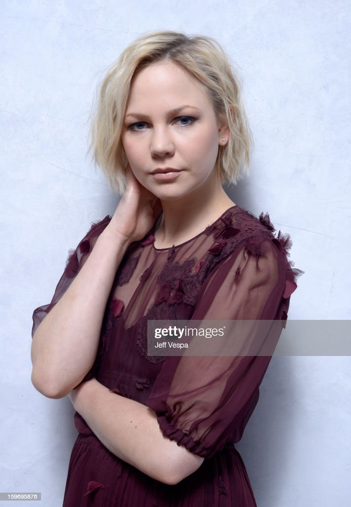 Actress Adelaide Clemens poses for a portrait during the 2013 Sundance Film Festival at the WireImage Portrait Studio at Village At The Lift on January 18, 2013 in Park City, Utah.