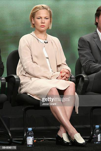 Actress Adelaide Clemens speaks onstage during the 'Rectify' panel discussion at the SundanceTV portion of the 2016 Television Critics Association...
