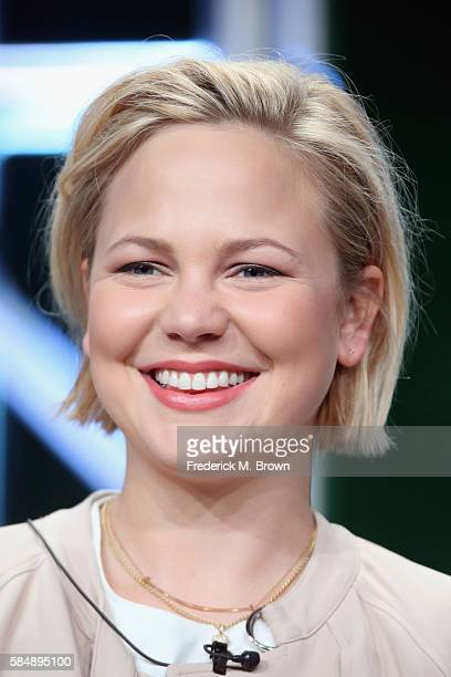 Actress Adelaide Clemens speaks onstage during the 'SundanceTV/Rectify' panel discussion at the AMC Networks portion of the 2016 Television Critics...