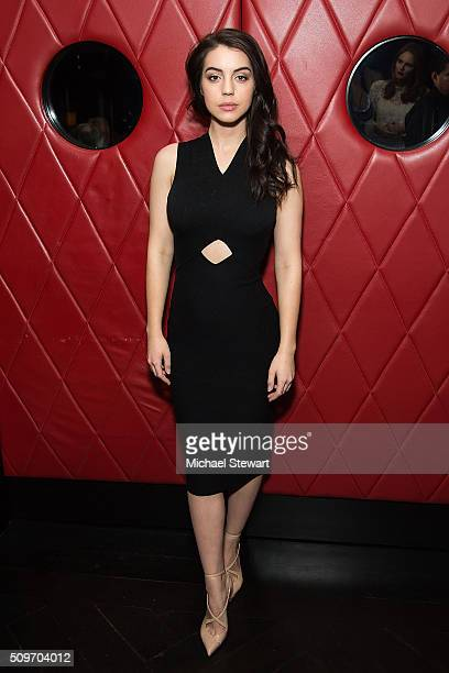 Actress Adelaide Kane attends Natalie Zfat's NYFW Dinner at Lamb's Club on February 11 2016 in New York City