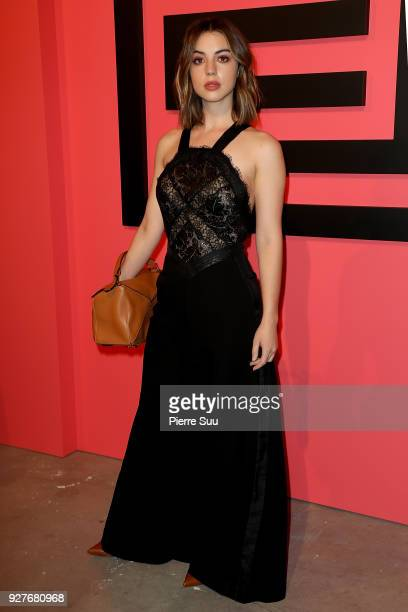 Actress Adelaide Kane attends the Shiatzy Chen show as part of the Paris Fashion Week Womenswear Fall/Winter 2018/2019 on March 5 2018 in Paris France