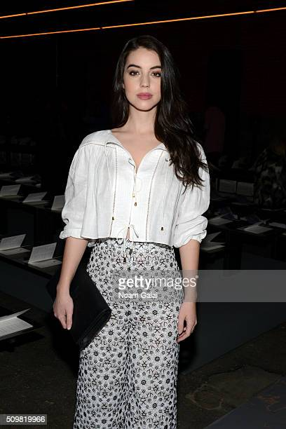 Actress Adelaide Kane attends the Zimmermann Fall 2016 Runway Show at Art Beam on February 12 2016 in New York City