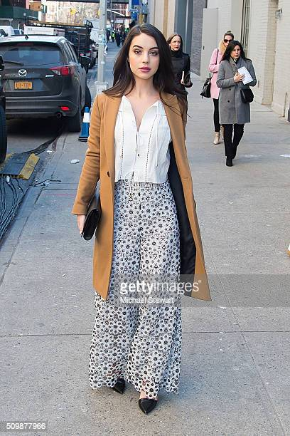 Actress Adelaide Kane is seen in outside the Zimmermann 2016 fashion show on February 12 2016 in New York City