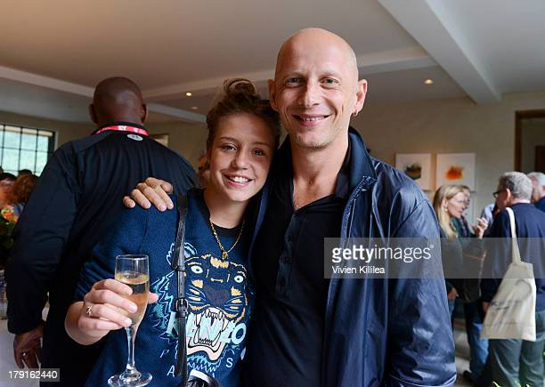 Actress Adele Exarchopoulos and filmmaker Stefano Sardo attend the AMPAS party at the 2013 Telluride Film Festival Day 3 on August 31 2013 in...