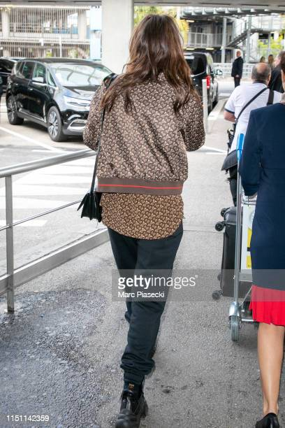 Actress Adele Exarchopoulos arrives ahead the 72nd annual Cannes Film Festival at Nice Airport on May 23 2019 in Nice France