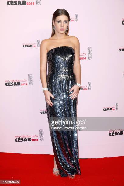 Actress Adele Exarchopoulos arrives for the 39th Cesar Film Awards 2014 at Theatre du Chatelet on February 28 2014 in Paris France