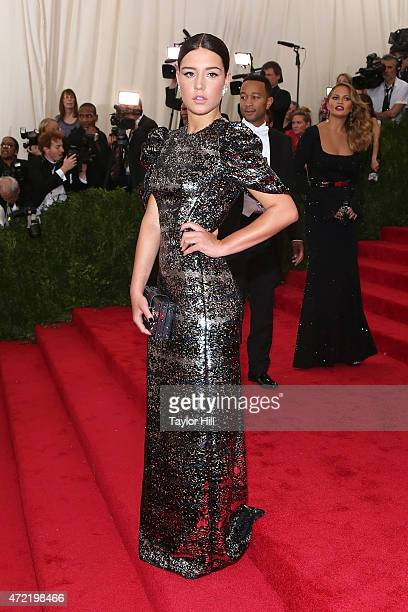 Actress Adele Exarchopoulos attends China Through the Looking Glass the 2015 Costume Institute Gala at Metropolitan Museum of Art on May 4 2015 in...