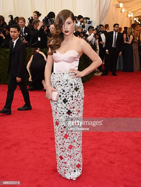 Actress Adele Exarchopoulos attends the Charles James Beyond Fashion Costume Institute Gala at the Metropolitan Museum of Art on May 5 2014 in New...