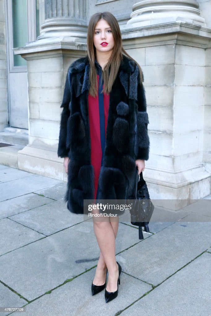Actress Adele Exarchopoulos attends the Louis Vuitton show as part of the Paris Fashion Week Womenswear Fall/Winter 2014-2015 on March 5, 2014 in Paris, France.