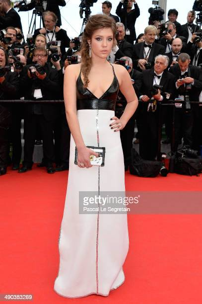 Actress Adele Exarchopoulos attends the Opening ceremony and the 'Grace of Monaco' Premiere during the 67th Annual Cannes Film Festival on May 14...