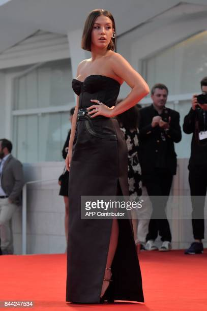 Actress Adele Exarchopoulos attends the premiere of the movie Racer And The Jailbird presented out of competition at the 74th Venice Film Festival on...