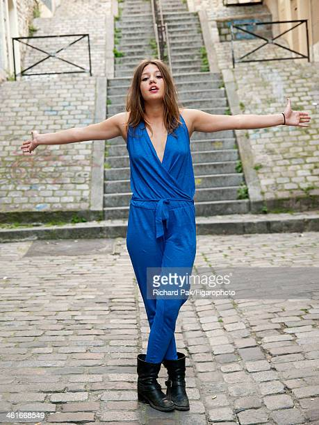 107386005 Actress Adele Exarchopoulos is photographed for Madame Figaro on July 5 2013 in Paris France CREDIT MUST READ Richard...