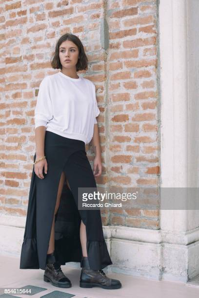 Actress Adele Exarchopoulos is photographed for Self Assignment on September 7 2017 in Venice Italy