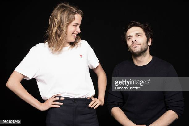 Actress Adele Haenel and actor Pio Marmai is photographed for Self Assignment on May 2018 in Cannes France