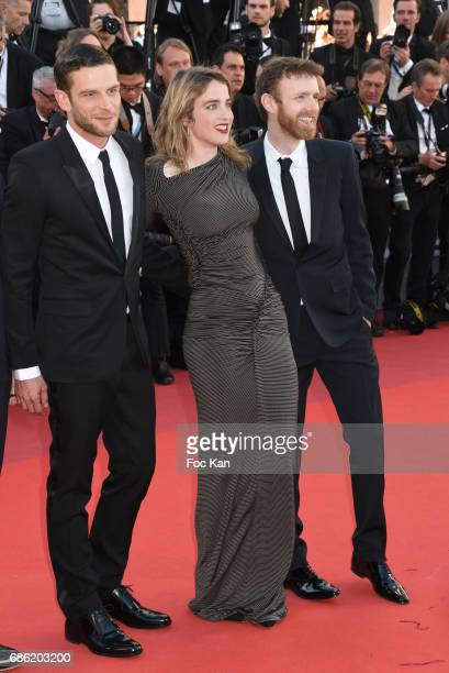 Actress Adele Haenel and actors Antoine Reinartz Nahuel Perez Biscayart attend the '120 Beats Per Minute ' screening during the 70th annual Cannes...